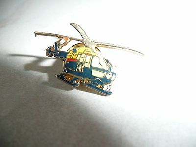 Police Helicopter Pin Badge