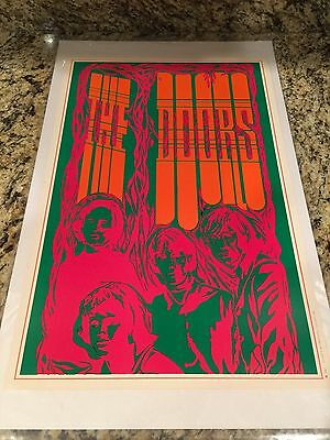 Vintage Original 1967 The Doors Psychedelict Poster Saladin Productions