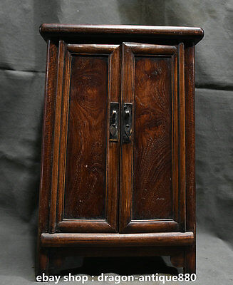 Old China Huanghuali Wood Dynasty Carving Classical Furniture Cabinet Cupboard