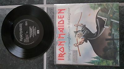 "Iron Maiden Bring Your Daughter To The Slaughter  7"" Etched Vinyl Limitd Edition"