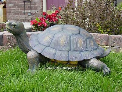 "Large Turtle Statue 30"" Long Reptile Garden Pond Decor Pool House Home Decor"