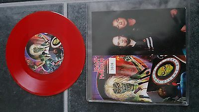 "Iron Maiden Out of the Silent Planet Red Vinyl  UK 7"" single"