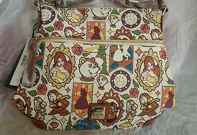 Dooney & Bourke Disney Beauty And The Beast Crossbody Letter Carrier Purse Nwt