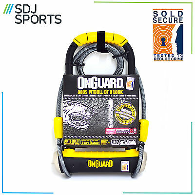 Magnum Onguard 8005 Shackle Lock Gold Sold Secure Bike D U Lock With Cable
