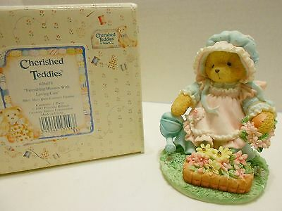 """Cherished Teddies """"MARY MARY QUITE CONTRARY"""" Friendship Blooms #626074"""