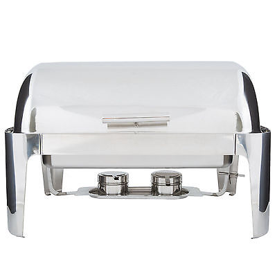 Roll Top SUPREME Full Size 8 Qt. Stainless Steel Buffet Chafer Chafing Dish Set