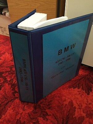 BMW 6 Series including 635i M6 (Factory) Workshop Manual Repair Service