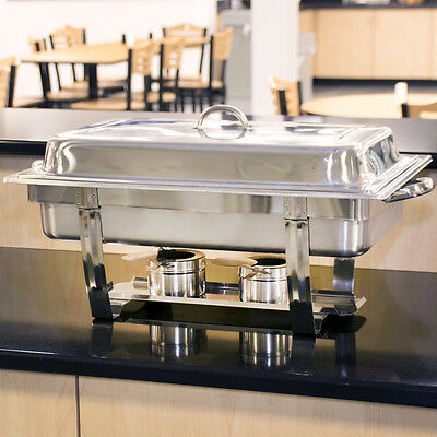 4 PACK Choice Full Size 8 Qt. Stackable Stainless Steel Chafing Dishes Catering