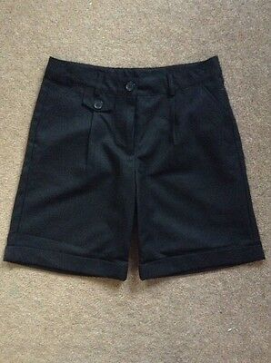 Girls Black School Uniform Shorts Size 11 Years From Next - New