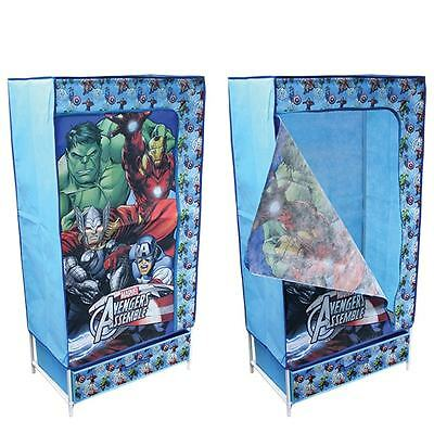 BOYS CUTE Kids Canvas Fabric Wardrobe Storage Solution Marvel AvengeRS!!!