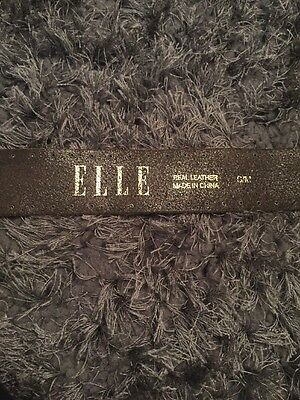 Elle Leather Belt S/m Brown