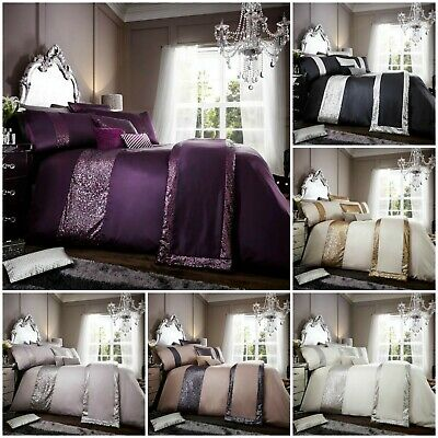 Luxury Duvet cover set with pillowcases double super king single queen size new