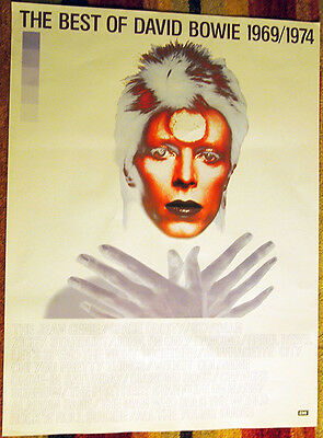 original promo poster  -  the Best of David Bowie