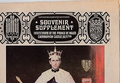 Newspaper souvenir supplerment for investiture of Prince of Wales 1969
