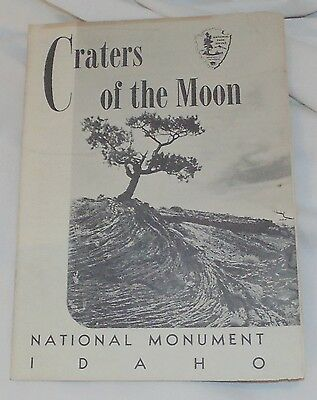 Craters of the Moon National Monument Map & Guide Idaho 1958 Vintage