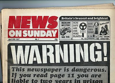 First edition of NEWS on SUNDAY 1987