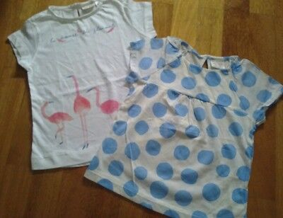 NWT Zara Bundle Lot T-shirt Top baby girls Size 18/24 months  2 years