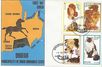 N 1220 'Dhufar' May 1974 'First Day Cover'; cat theme
