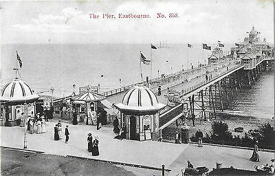 RP Animated Card EASTBOURNE PIER - Posted 1908