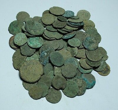 Lot of 100 Roman Bronze Coins,Uncleaned,a