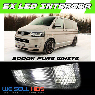 4x VW TRANSPORTER T5 INTERIOR LED LIGHT BULBS REPLACEMENT KIT XENON WHITE 6000K