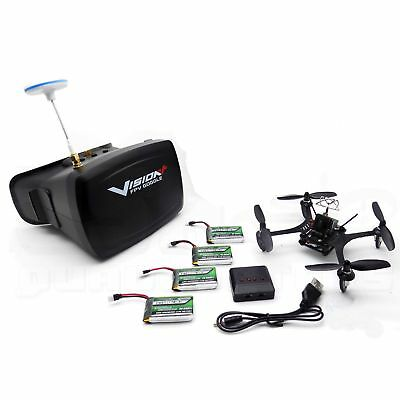 PitchPlus 135mm FPV Micro Brushed Racing Drone +Goggles, DSMX Rx, Batteries BNF