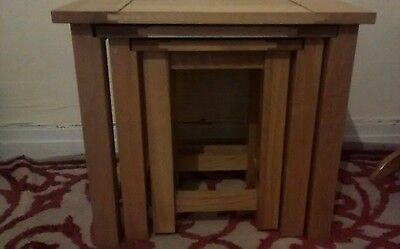 solid wood side/coffee tables