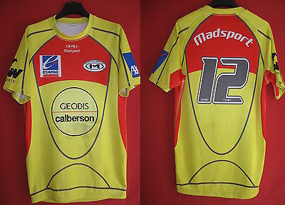 Maillot rugby Moulant Madsport Calberson Geodis Manche Courte Vintage - L