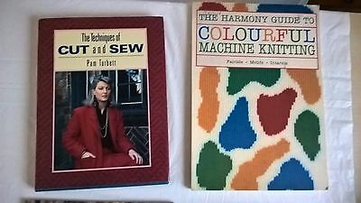 Lot 57 3 Books for Machine Knitting D Holbourne, Cut & Sew, Harmony Colour