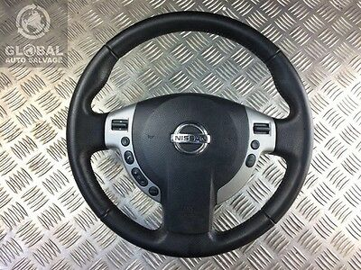 07-10 Nissan Qashqai Leather Multifunction Steering Wheel With Airbag Two Plugs