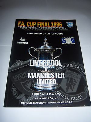 1996 FA CUP FINAL - LIVERPOOL v MANCHESTER UNITED - FOOTBALL PROGRAMME
