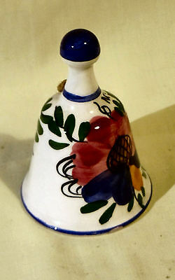 Pottery Bell - Handpainted - bright see photo - Souvenir of Nertal - 80mm tall