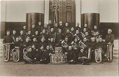 Photographic Postcard of Salvation Army Band -  Inappropriate Comment to Reverse