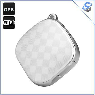 GPS Tracker Locator GSM Wi-Fi LBS Geo Fence SOS Call Real Time Tracking White
