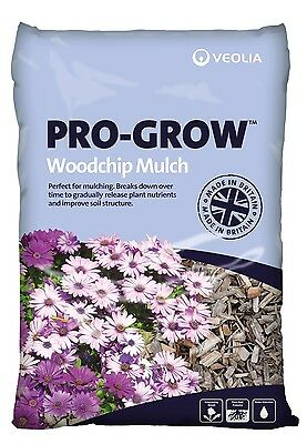 Pro-Grow WOODCHIP MULCH 70 L Bag, Premium Quality, Long Lasting, Made in Britain