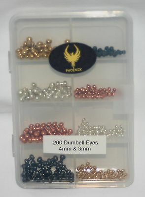 200 Brass Beads for Fly-Tying - Mixed Sizes & Colours