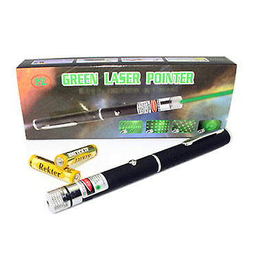Professional 5 In 1 Green Beam Ray Laser Lazer Light Pointer Laserstars Pen 1MW