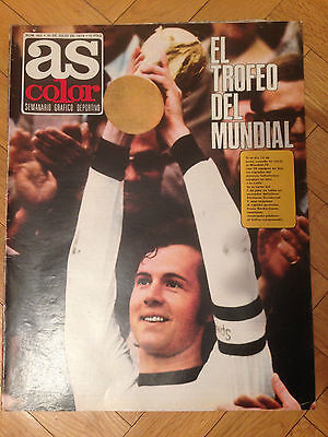As Final World Cup 1974 Wc74 Germany Netherlands Cruyff Maier With Poster