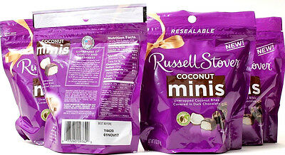 4 Russell Stover Coconut Minis Coconut Covered With Chocolate Best By 11-1-17