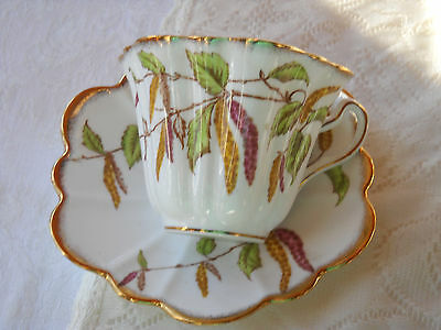 Vintage Tea Cup and Saucer England - Queen's- Rosina
