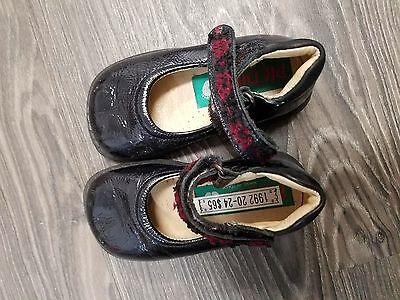 baby girls piedini shoes toddler size 20 new black patent mary janes