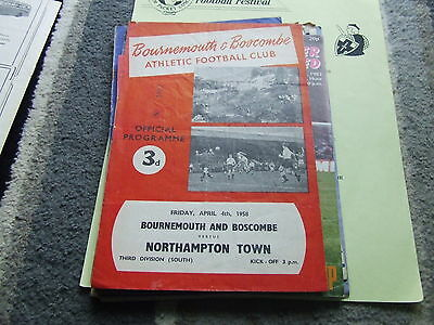 Bournemouth & Boscombe V Northampton Town 1957-8