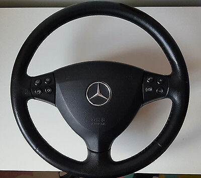 Mercedes A class w169 leather steering wheel with airbag 2004-2013