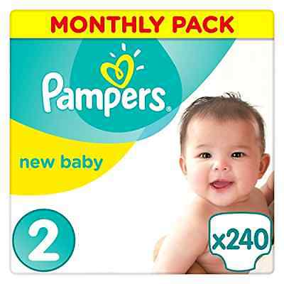 Pampers Premium Protection Nappies New Baby - Size 2 - 240 Nappies