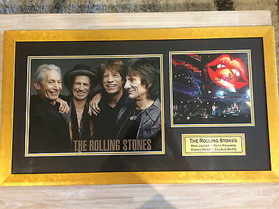 Rolling Stones signed and framed photos