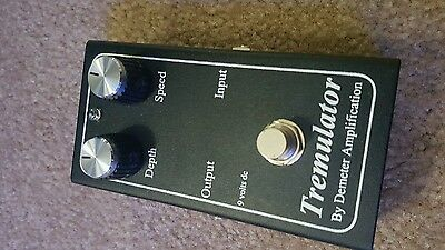 Demeter Amplification Tremulator Tremolo Effects Pedal Free Usa Shipping
