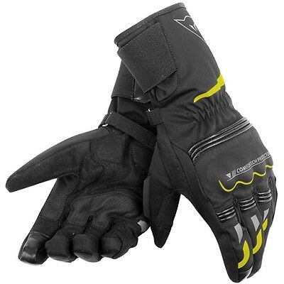 Guantes Dainese Tempest Long D-Dry Black-Yellow Fluo