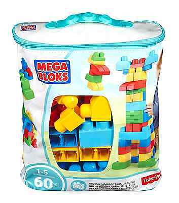Mega Bloks First Builders Classic Buildable Bag, 60 Blocks/Pieces - Ages 1+