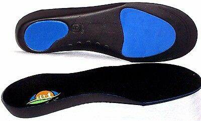 FootTrek High Performance Semi-Rigid Full length Arch Support Orthotic Insoles