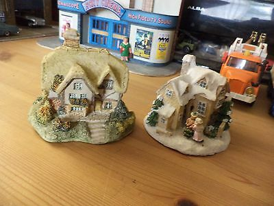 pair of miniture houses good display models please see pictures